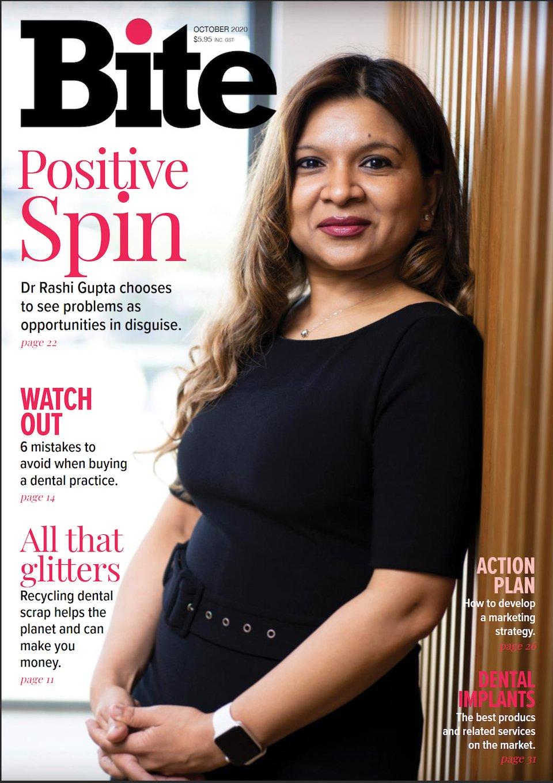 Dr Rashi Gupta Bite Magazine Cover Page