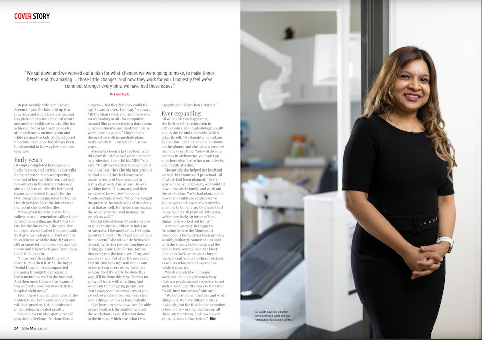 Dr Rashi Gupta Bite Magazine Story Page 24-25