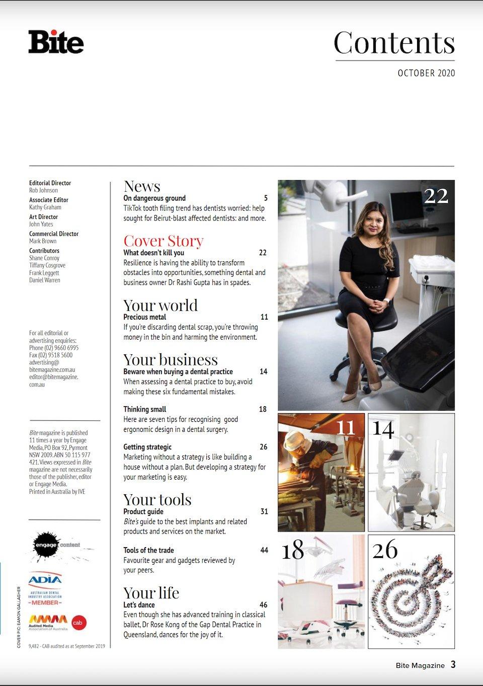 Dr Rashi Gupta Bite Magazine Story Page 3