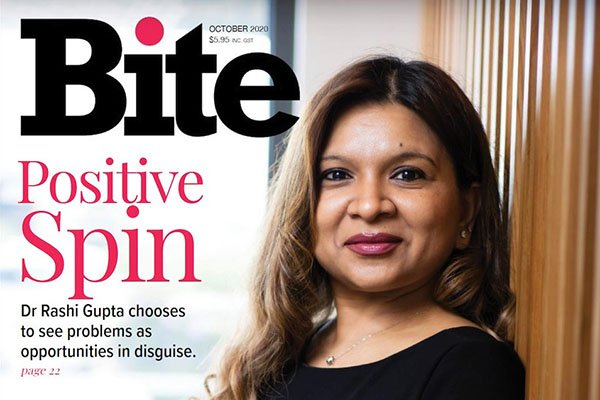 dr rashi gupta bite magazine story in the media banner dentist norlane geelong